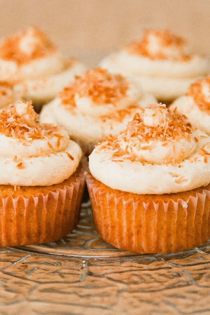 Coconut Cupcakes with Coconut Cream Cheese Frosting | Boy ...