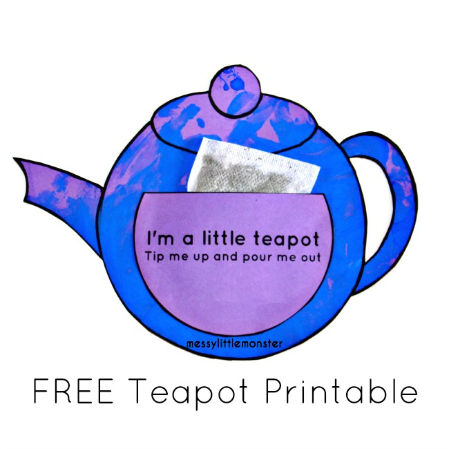 Teapot Craft You Re Tea Riffic Messy Little Monster