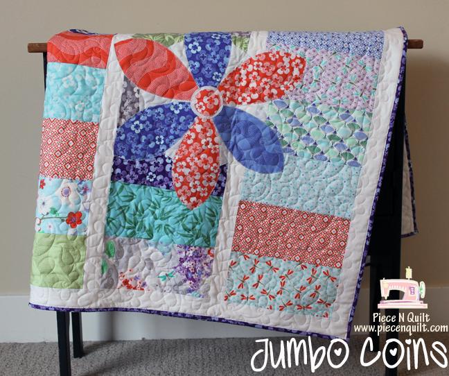 Piece N Quilt: Jumbo Coins {a free baby quilt tutorial} : baby quilt diy - Adamdwight.com