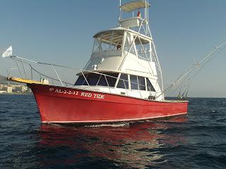 Nuestro barco de charter de pesca, un Maine coaster 35.