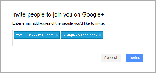 Google+ Invite People