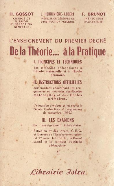 L'enseignement du premier degré (1969)