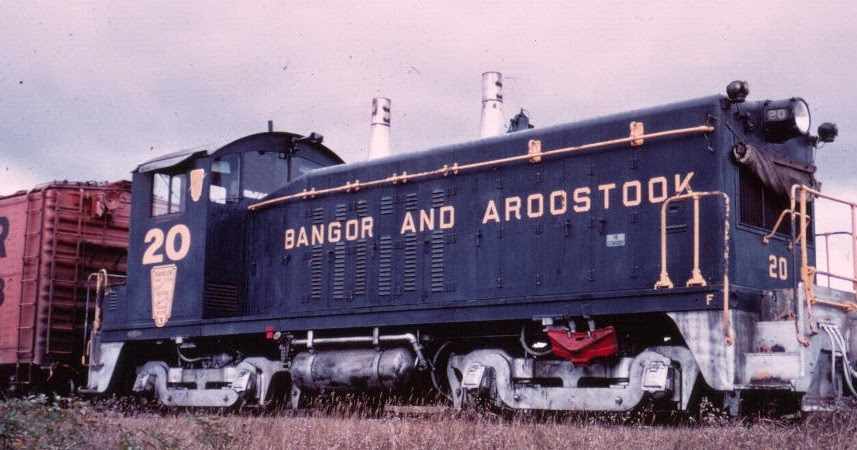 Eddie 39 s rail fan page bangor and aroostook railroad emd for Motor city bangor maine