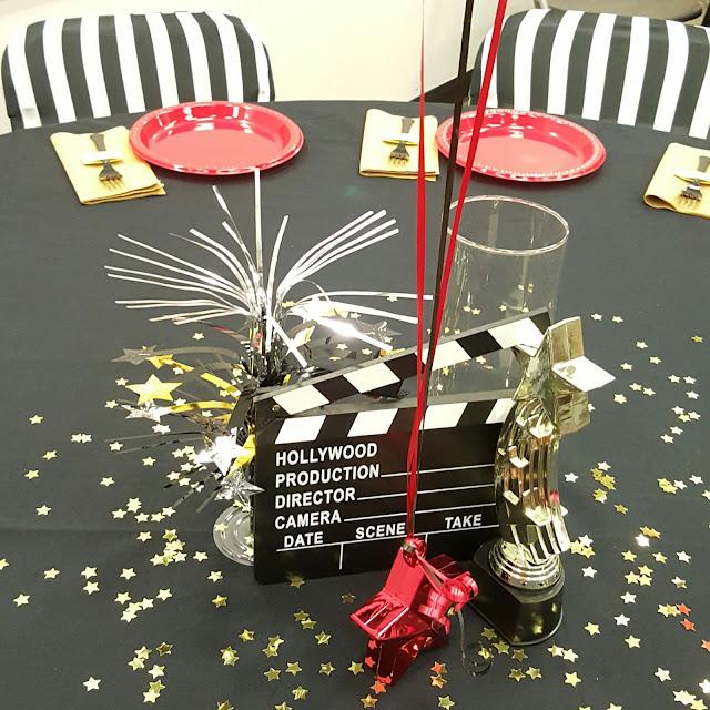 Hollywood theme centerpiece, EventSoJudith, centerpiece