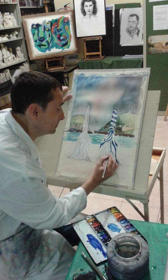 Pintamos los toldos de Ondarreta