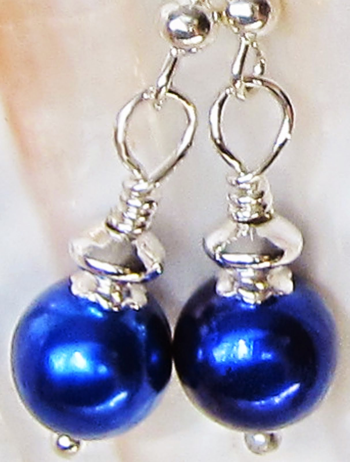 Blue Berry Natural Pearl Earrings