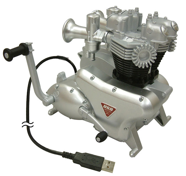 USB MOTORCYCLE ENGINE HUB - Bikers and motorcycle enthusiasts this is the USB Hub for you!