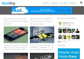 Dazzling Designer Blogger Template