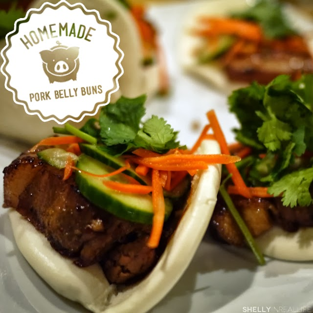Pork Belly Buns with Pickled Cucumbers & Carrots - shelly in real life