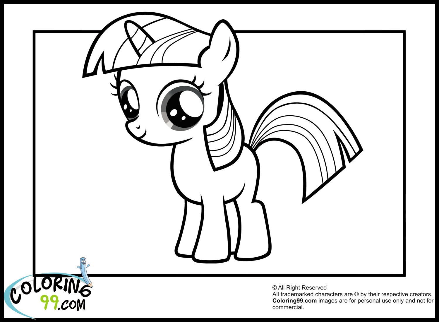 Coloring Pages Of Princess Twilight Sparkle : My little pony twilight sparkle coloring pages minister