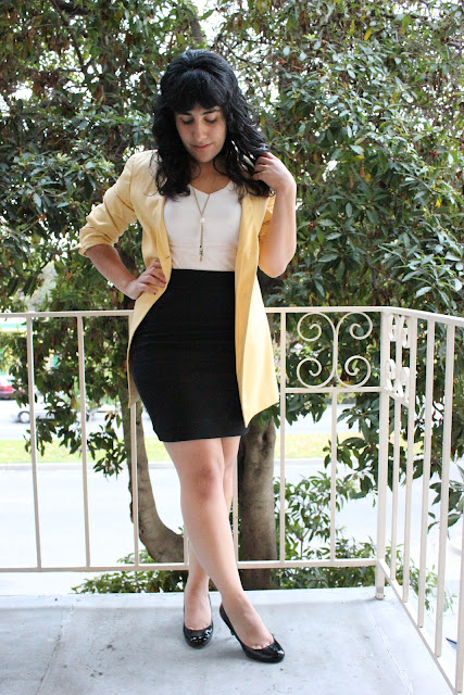 Blazer and Pencil Skirt Outfit