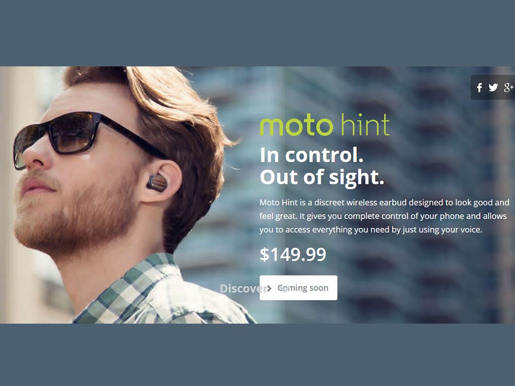 Introducing Moto Hint: A Bluetooth Enabled Earbud