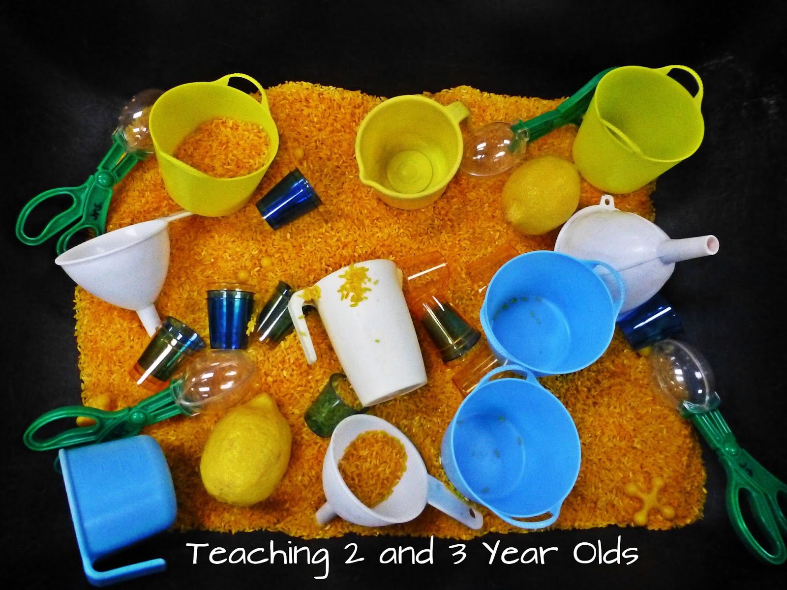 preschool ideas for the sensory table