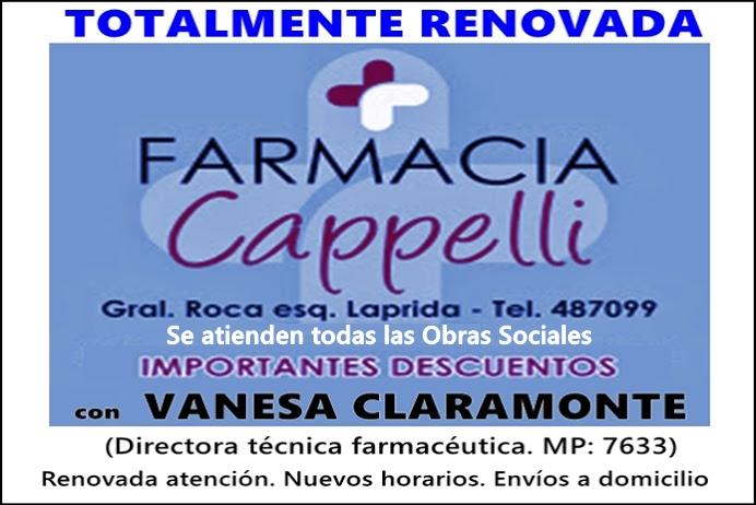 ESPACIO PUBLICITARIO: FARMACIA CAPPELLI RENOVADA