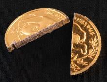 Поддельные золотые монеты 2 копейки 1989 года