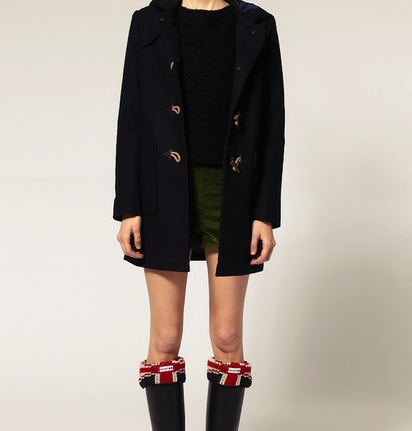 The Terrier and Lobster: Desired: Hunter Original Brit Union Jack Knit Wellie Cuff Socks and Wellies