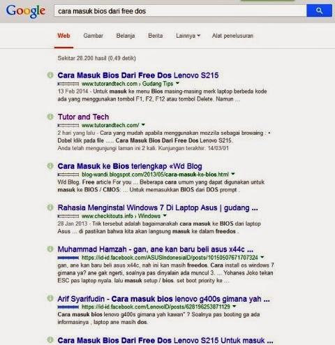 Rahasia No 1 Dalam Searce Engine Google