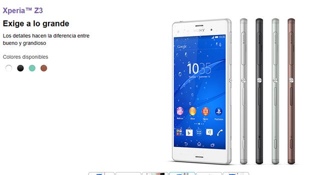 Sony Xperia Z3 llega a las tiendas