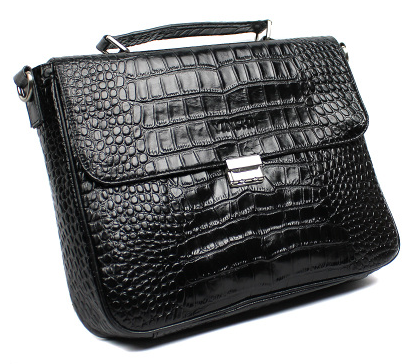 Top Choice: Mens Modern Crocodile Pattern Leather Briefcase