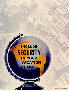 globe travel security poster