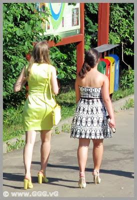 Girls wearing high heels shoes