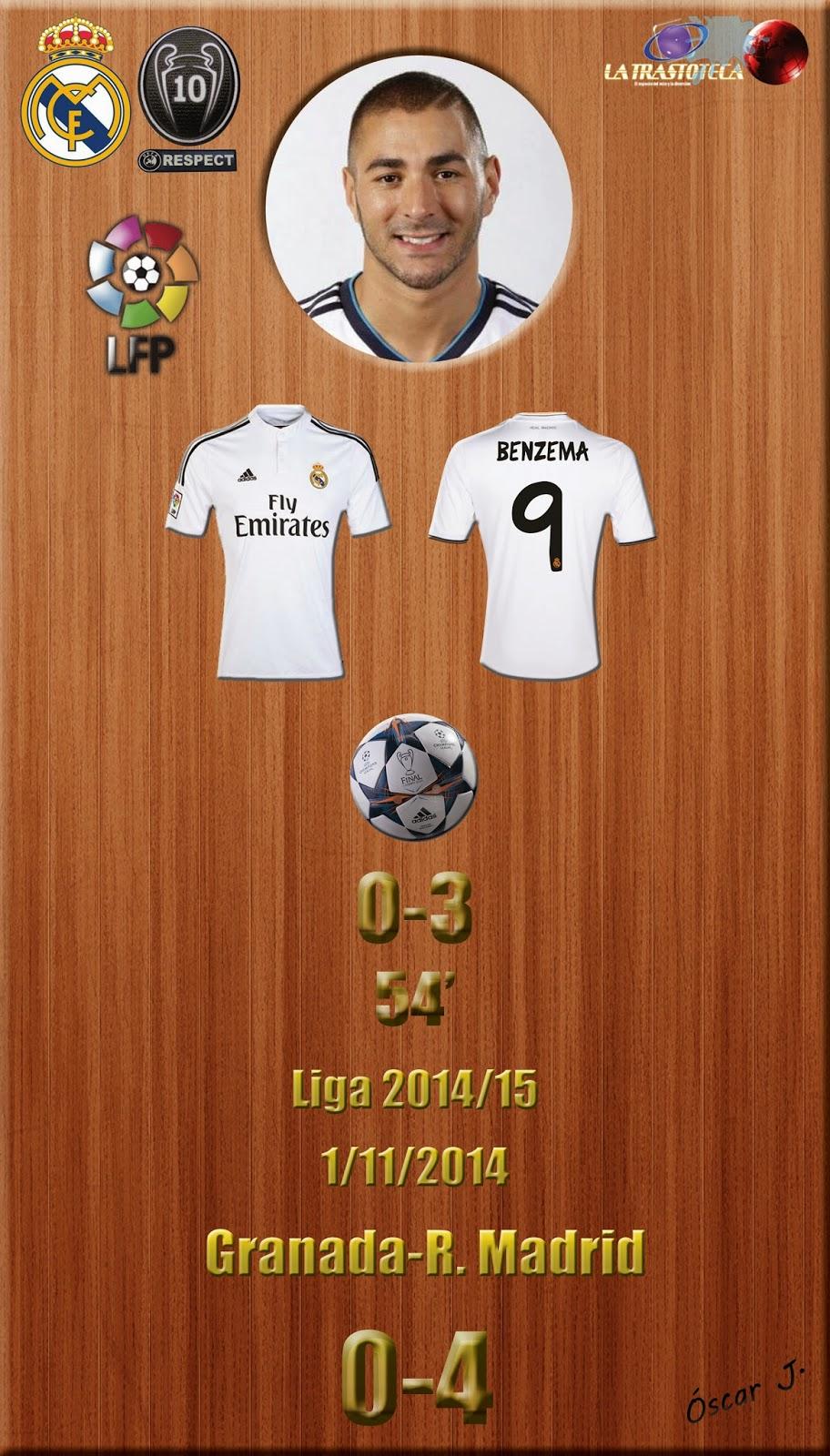Benzema - (0-3) - Granada 0-4 Real Madrid - Liga 2014/15 - (1/11/2014)