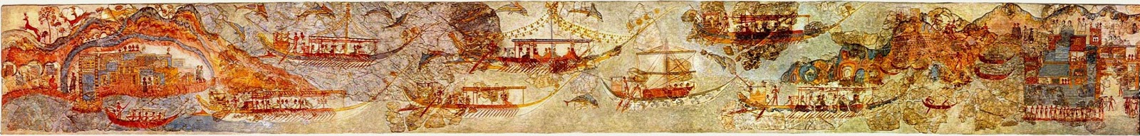 flotilla fresco The world of the ancient greeks the minoans: history | culture | warfare overview such activities are elaborated in artistic representations of the sea, including the 'flotilla' fresco from room 5, in the west house at akrotiri minoan.