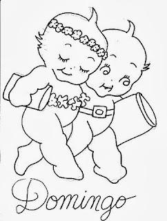 desenho semaninha do bebe para pintar domingo