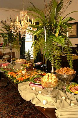Brunch table setting images easter brunch table setting - Mesas para buffet ...