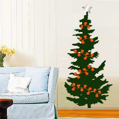 The Christmas Tree Wall Sticker Is £24 From Spin Collective And Can Be  Re Used Again Next Year.