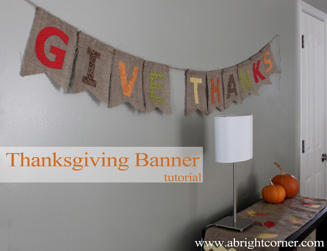 Cute burlap thanksgiving banner tutorial!