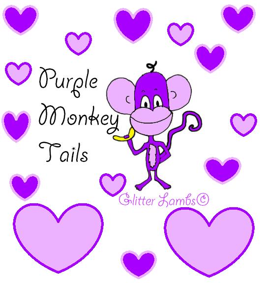 Purple Monkey Tails Glitter Lambs Nail Polish- Indie Handmade Lacquer