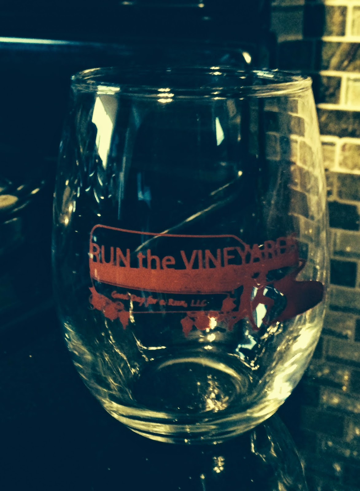 run the vineyards 5k wine glass