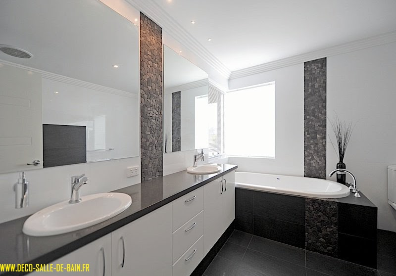 baignoire deco salle de bain moderne avec baignoire et douche petite - Salle De Bain Moderne Avec Baignoire