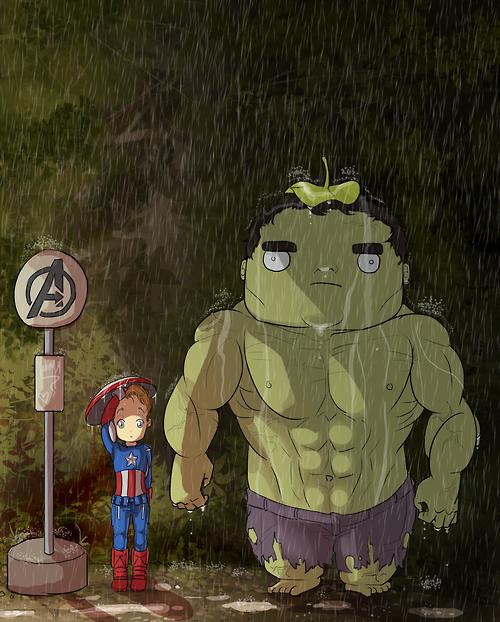 Мстители и Тоторо