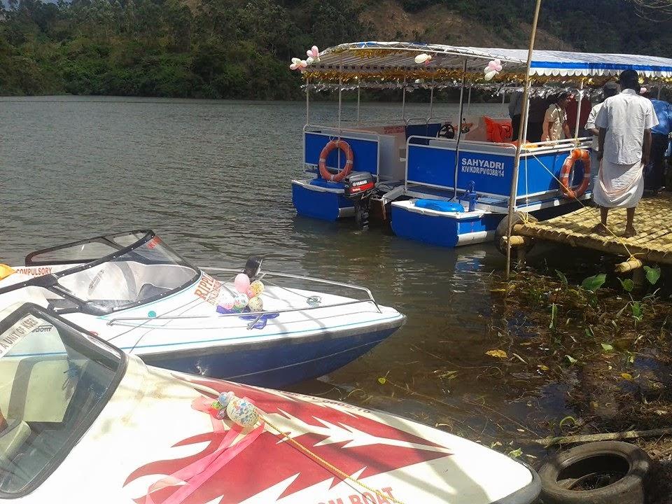 chengulam dam boating, motor boat in chengulam dam, speed boating in chengulam dam munnar