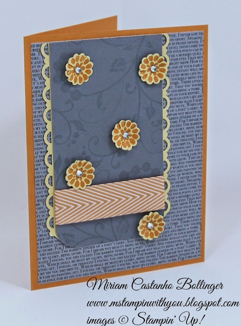 Miriam Castanho Bollinger, #mstampinwithyou, stampin up, demonstrator, mm387, birthday card, flowering flourishes, flower patch bundle, su