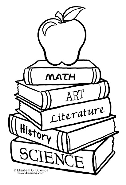 Schoolbooks Coloring Pages
