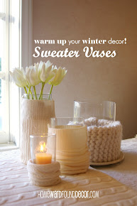 SWEATER-COVERED VASES