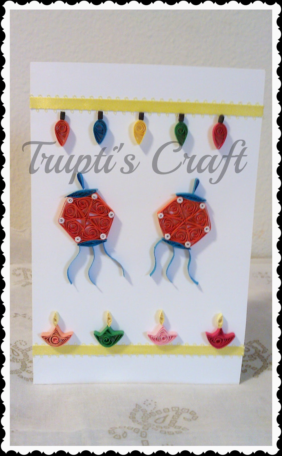 Trupti 39 s craft diwali cards for Image craft greeting cards