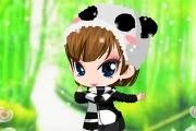 Panda Elbiseli Kız