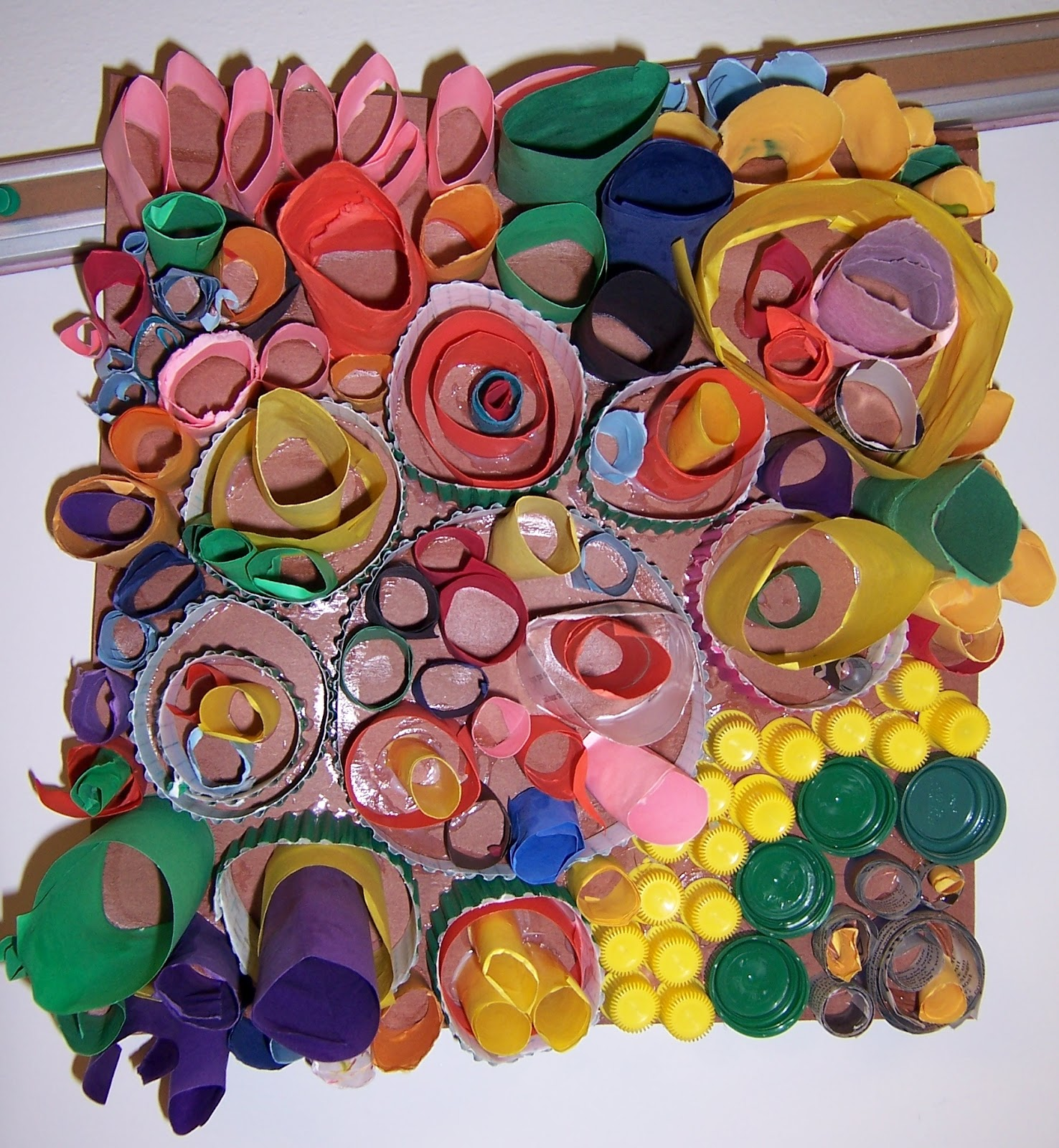 Art ideas that grow rhythmic rings for Recycle project ideas