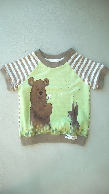Dandelion bear Finch Fabric shirtje voorkant