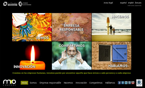 página web de MyO Company: Formación y Desarrollo, Consultoría...