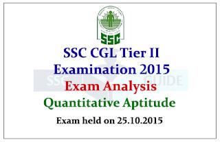 SSC CGL Tier II 2015 Exam Analysis