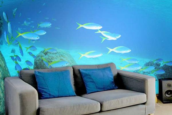Underwater themed room reguler wall painting art