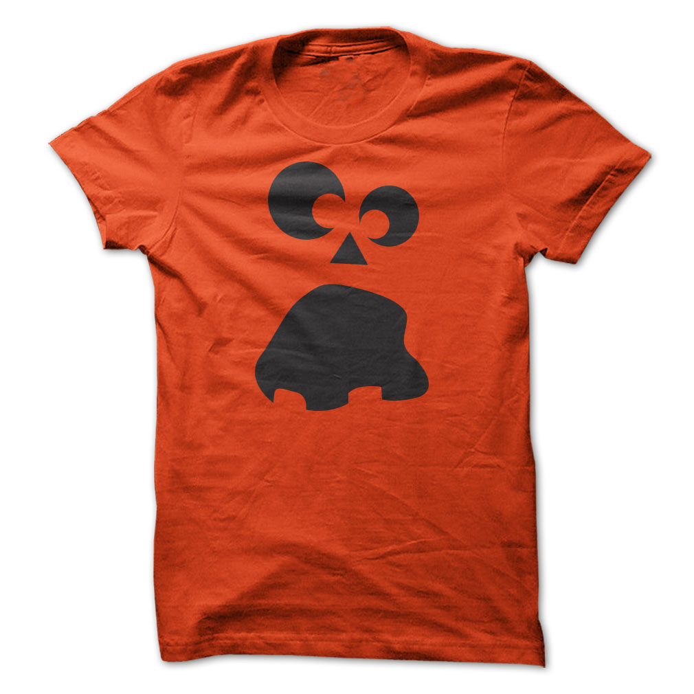 Scared Jack-O-Lantern Face Halloween T Shirt
