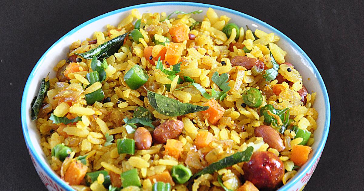 Vegetable Poha Upma | Masala Aval Upma | Spill the Spices