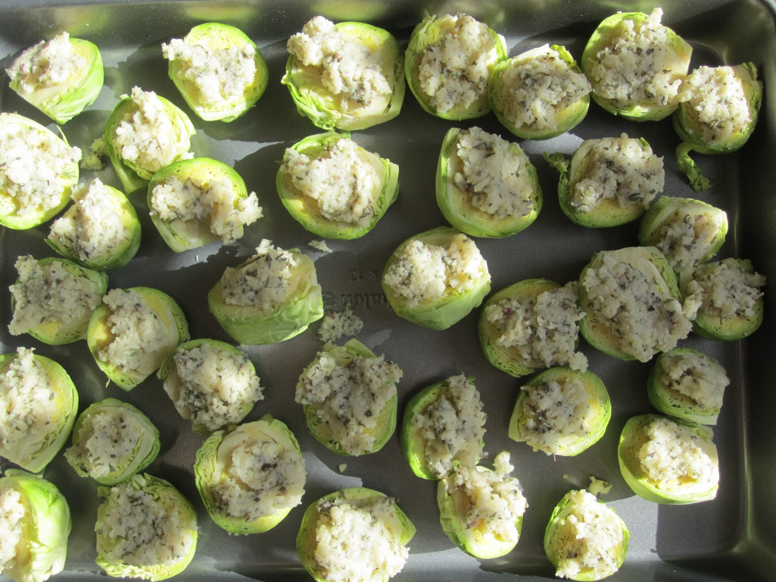 ... the biggest sprouts are tender and the topping is lightly browned