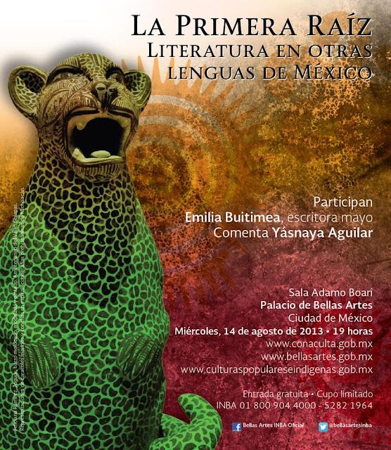 """El ciclo """"La primera raíz"""" presenta a Emilia Buitimea en el Palacio de Bellas Artes"""